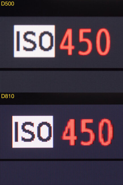 D500 vs. D810 monitor image details close-up