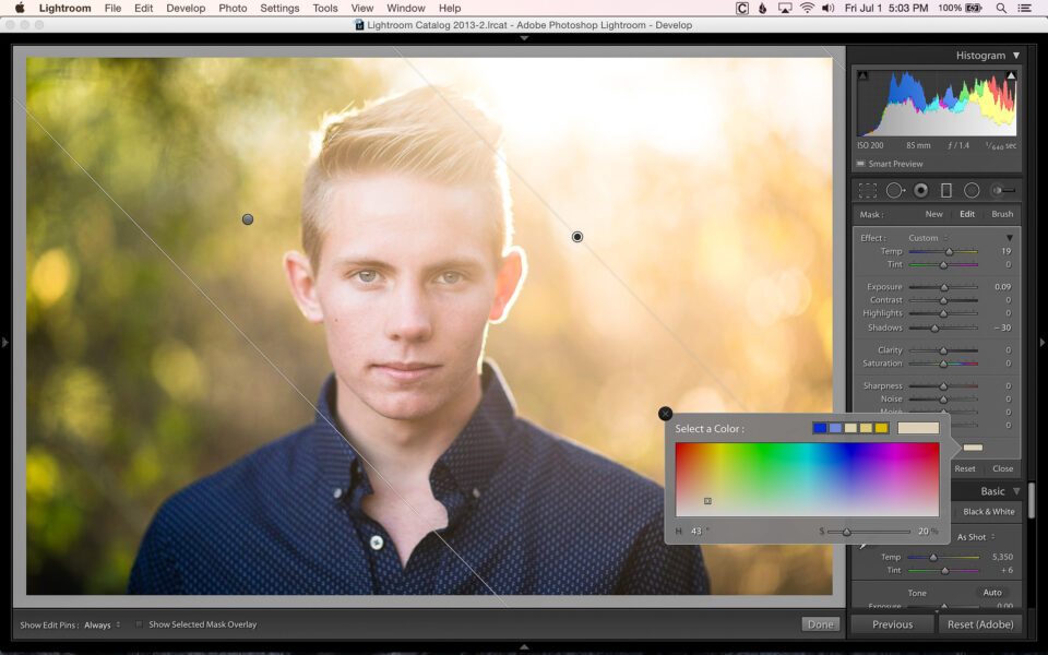 Adding Color With Filters and Brushes In Lightroom-6