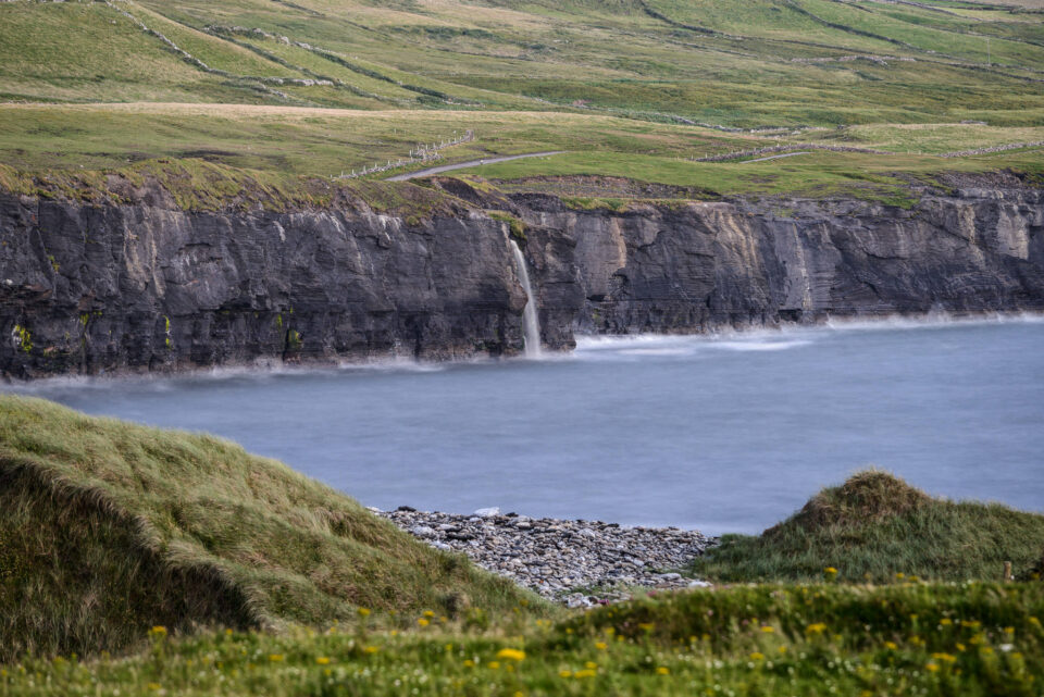 Ireland-Waterfall-Ocean