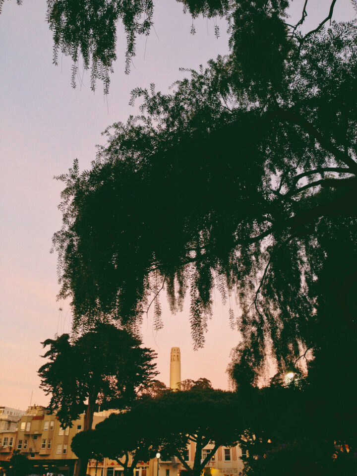 Coit Tower with colorful editing - phone