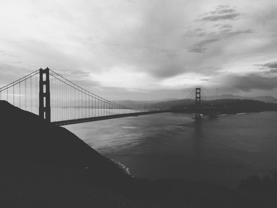 Golden Gate Bridge with lots of fade - phone