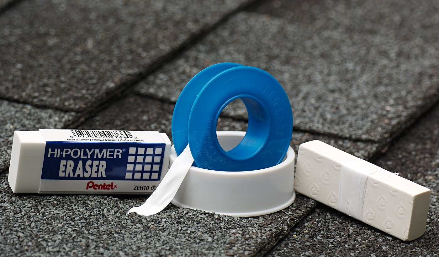 PTFE tape and polymer eraser