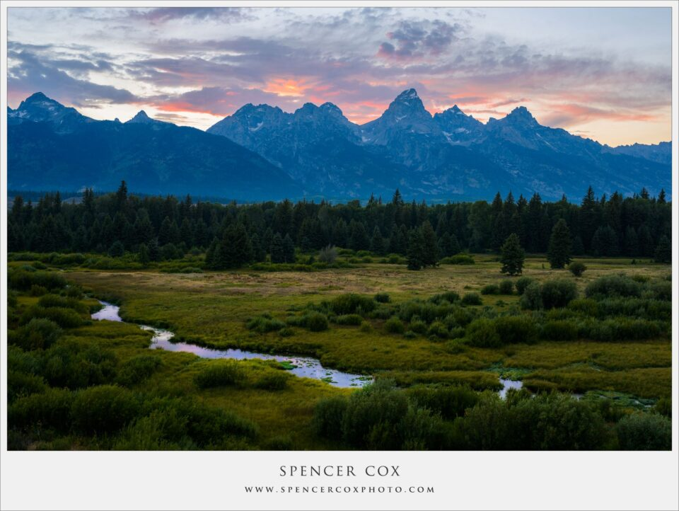 Spencer-Cox Grand Tetons Sunset