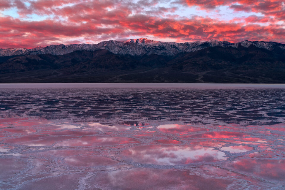 Badwater Sunrise Mountain Reflection