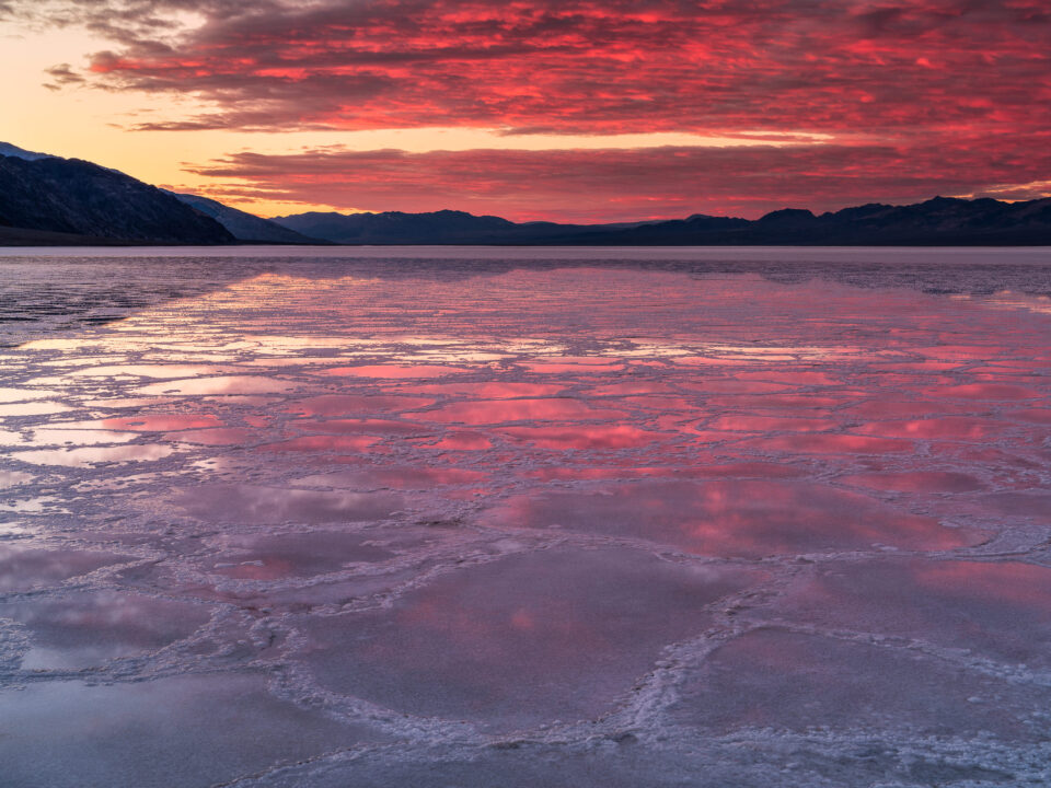 Badwater Sunrise Reflection