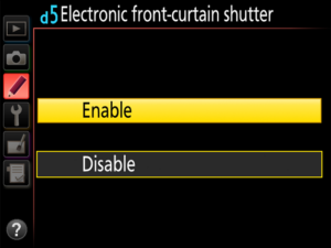 Nikon Electronic Front Curtain
