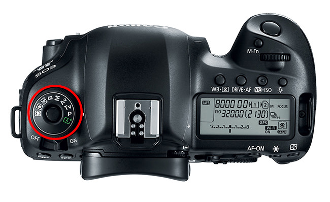 Canon 5D Mark IV PASM Dial