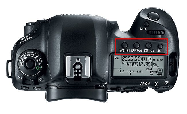 Canon 5D Mark IV Top Controls