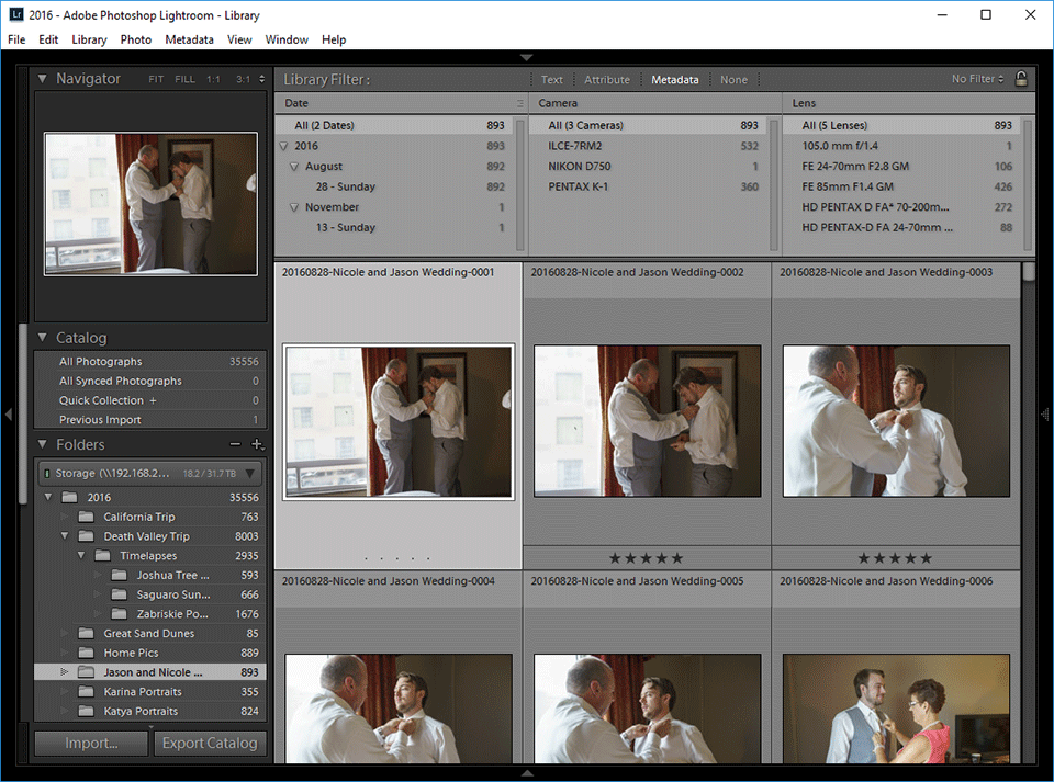 Lightroom Filters for Identifying Images