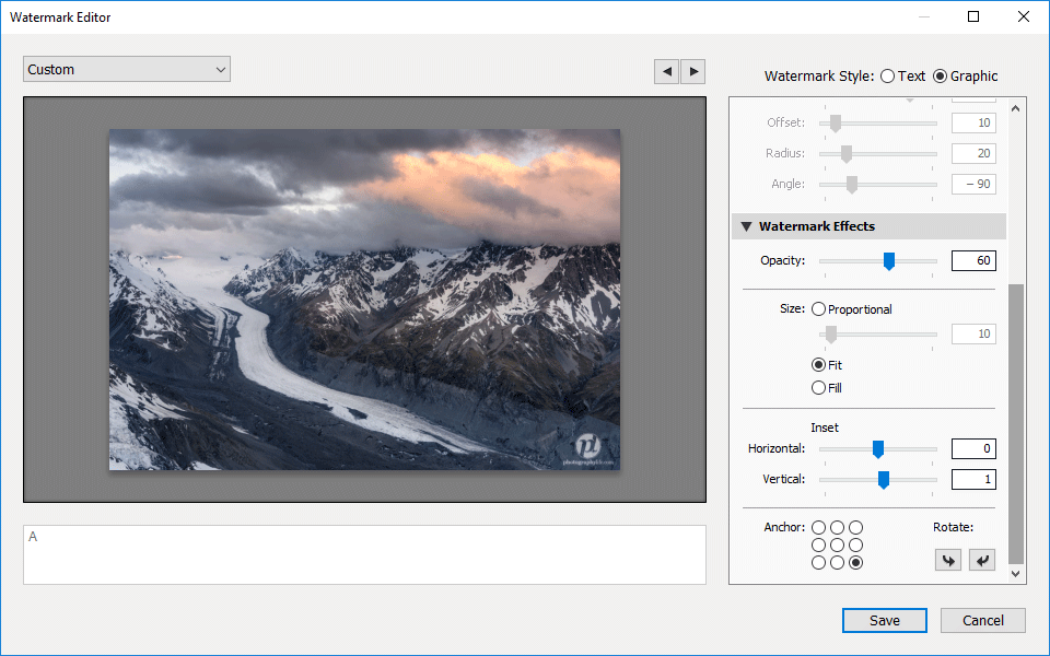 Lightroom Watermark Editor Graphic