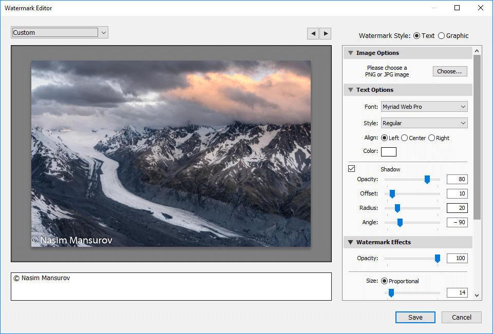 Lightroom Watermark Editor