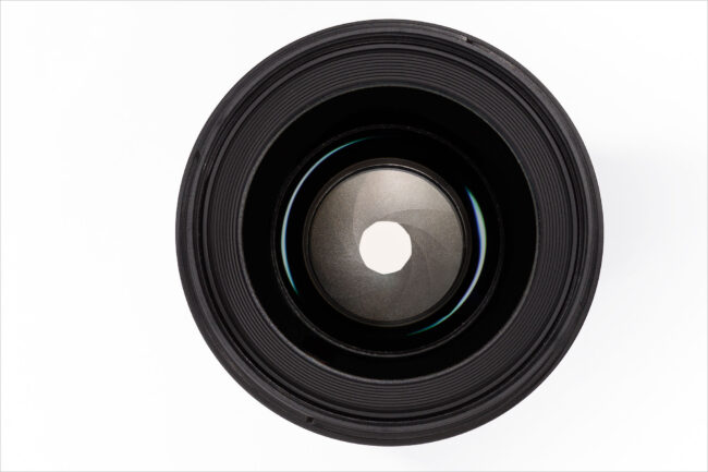 Aperture blades in a lens