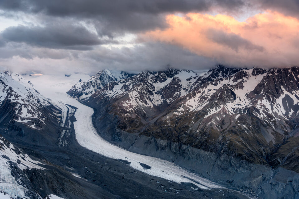 I was battling very strong winds when standing on top of a mountain in order to photograph the Tasman Glacier. A stable tripod helped tremendously in getting a sharp image despite gusty winds.