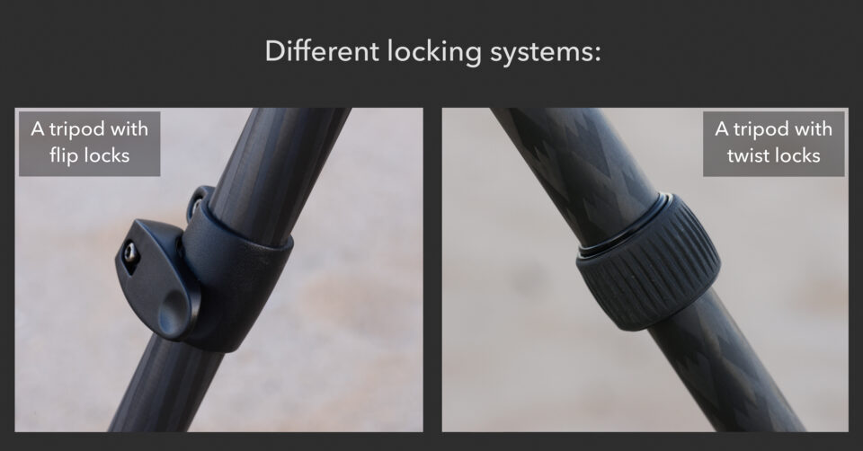 Flip vs twist locks