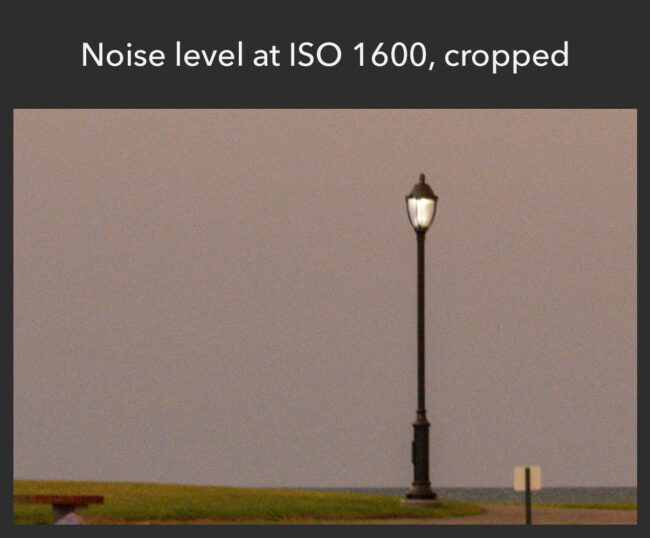 Noise level at ISO 1600