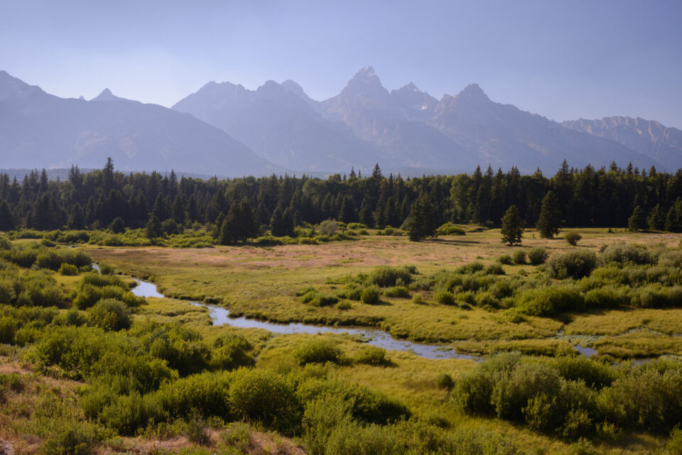 Scouted Teton photograph from early afternoon