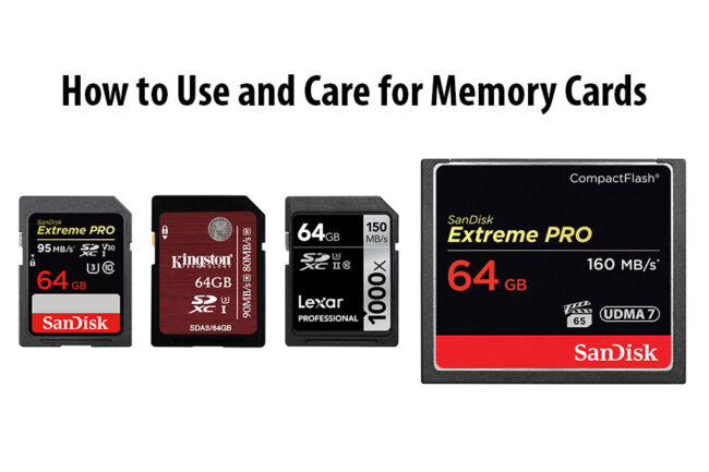 How to Use and Care for Memory Cards