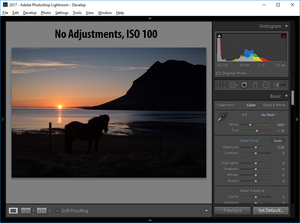 Lightroom Imported as ISO 100