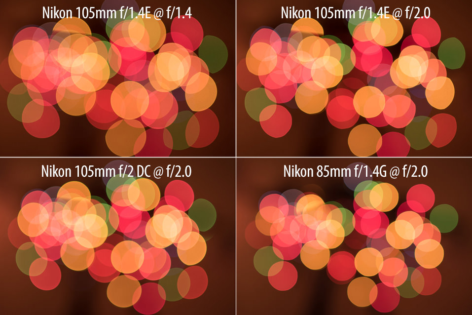 Nikon 105mm f/1.4E Bokeh Comparison