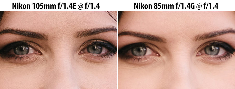 Nikon 105mm f/1.4E vs Nikon 85mm f1.4G Sharpness