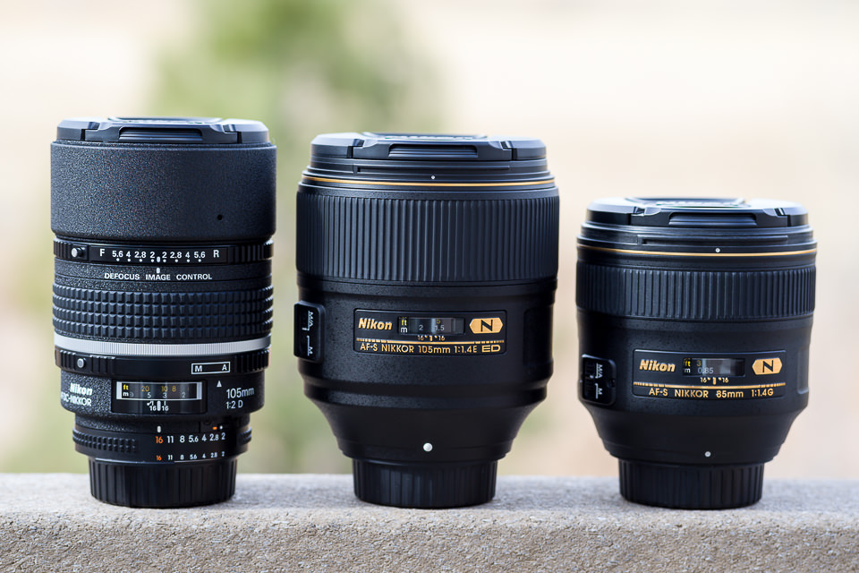 Nikon 105mm f/2 DC vs Nikon 105mm f/1.4E vs Nikon 85mm f/1.4G
