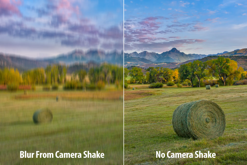 With and Without Camera Shake