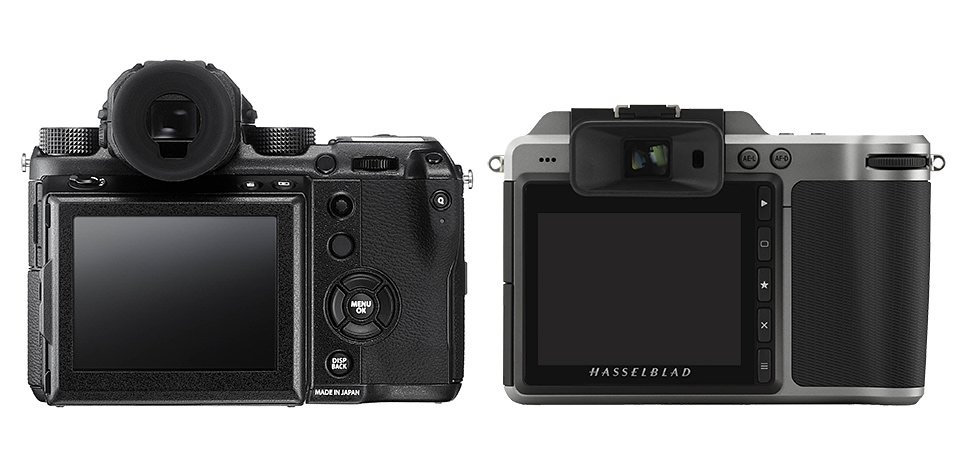 Fuji GFX 50S vs Hasselblad X1D-50c Back View