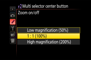 Nikon One-Click Zoom Feature