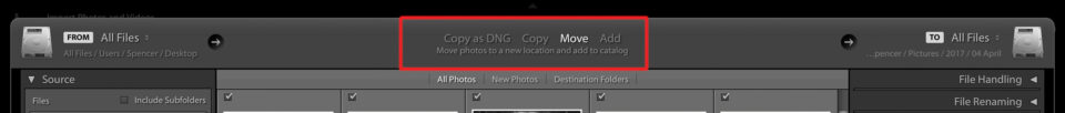 Lightroom-Import-options