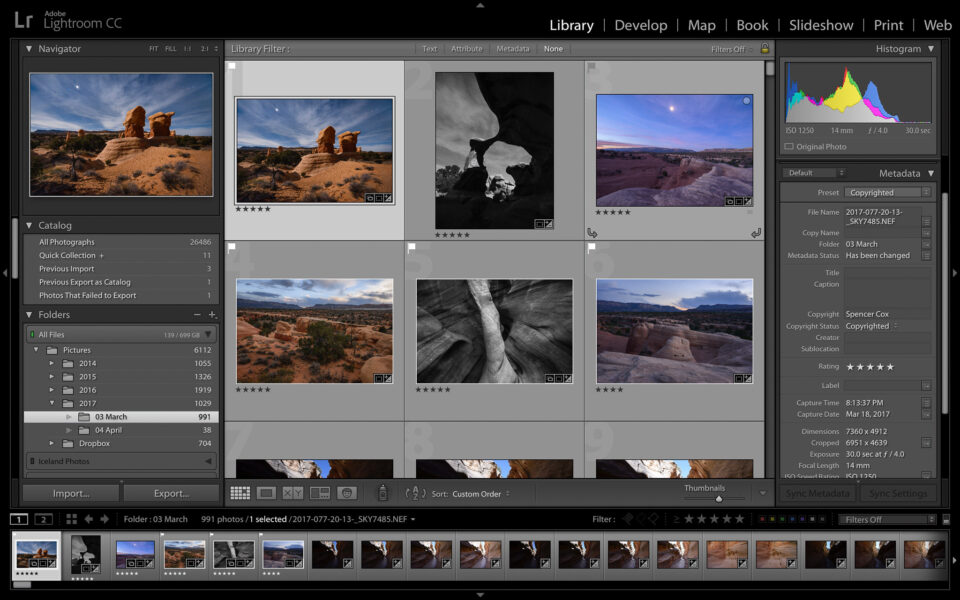 Lightroom-Library-Module-Filmstrip