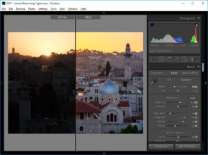 Lightroom Split Screen