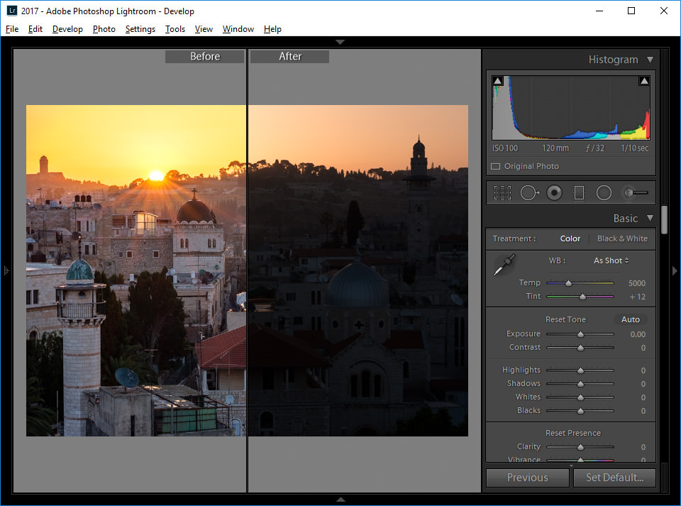 Lightroom Split Screen Swapped