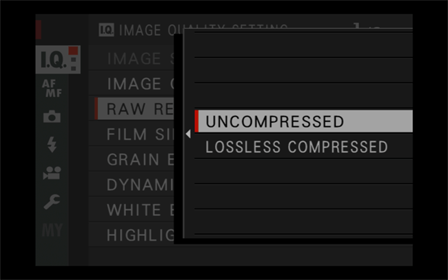 Compressed vs Uncompressed vs Lossless Compressed RAW Options