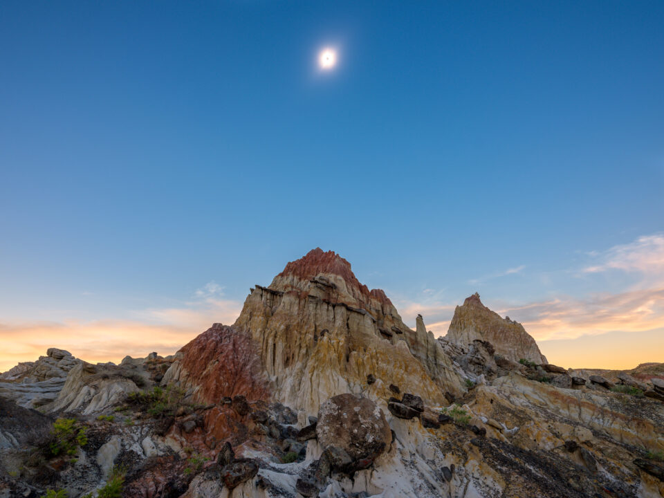 Solar Eclipse Totality Wide Angle