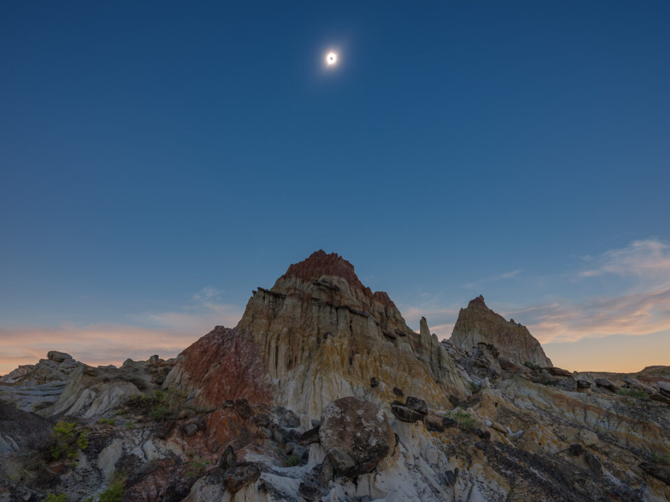 Solar Eclipse Totality with Landscape
