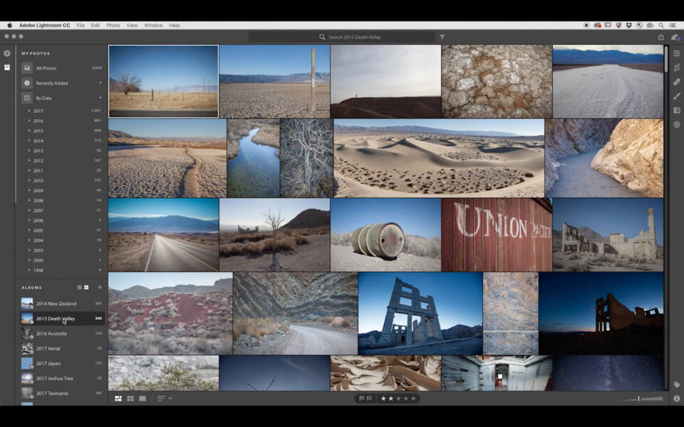 Lightroom CC layout