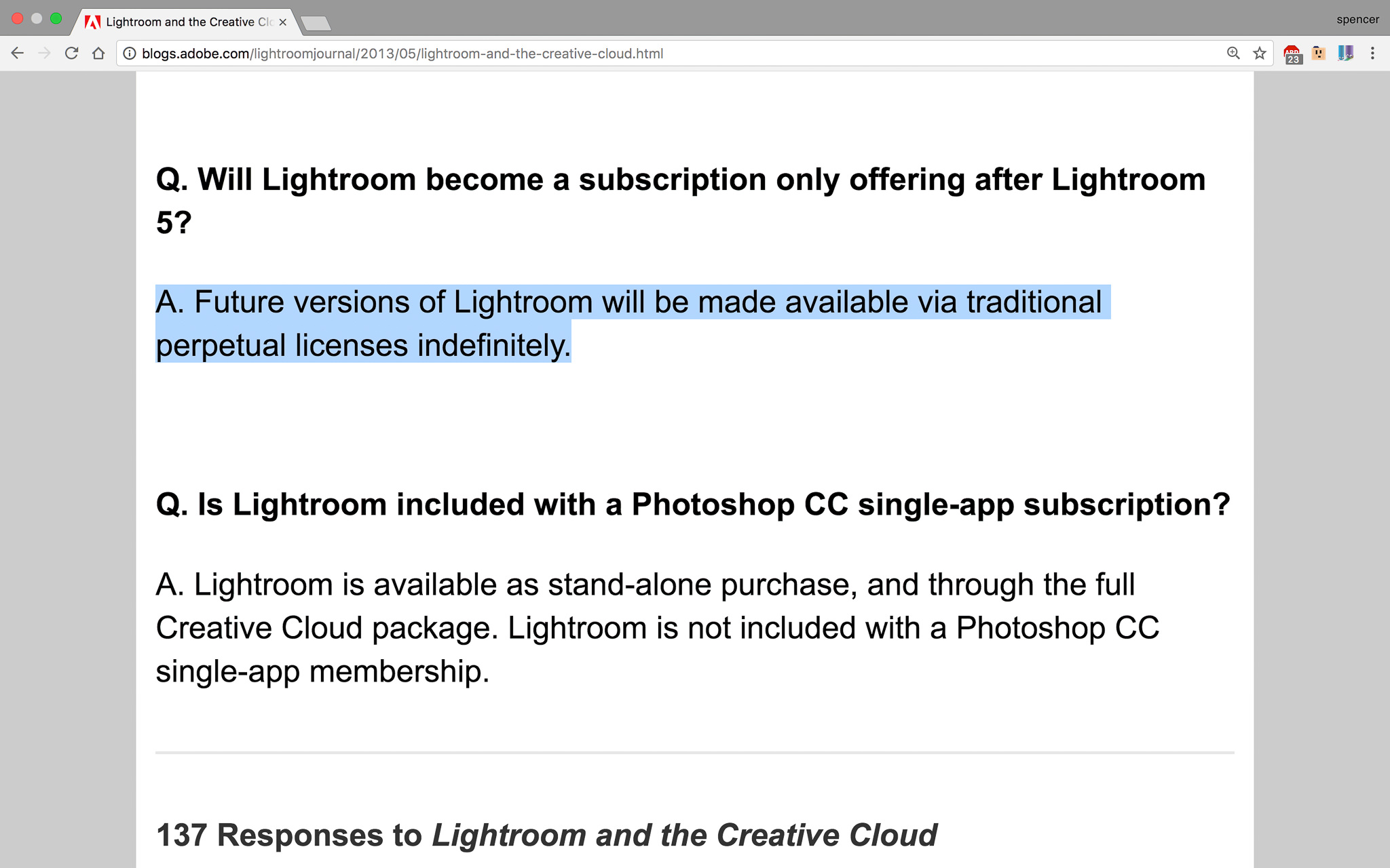 Lightroom Classic and Lightroom CC Announced - Subscription