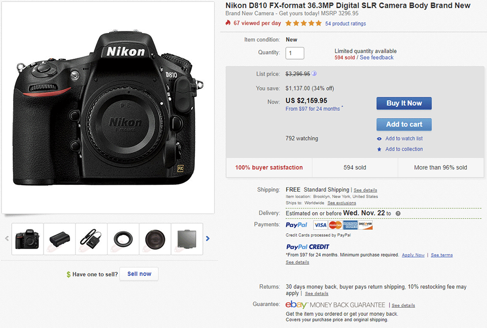 Nikon D810 Gray Market Price