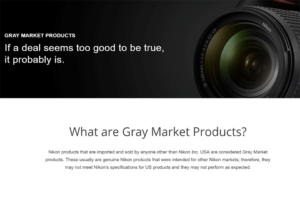 What is Gray Market Camera Gear?