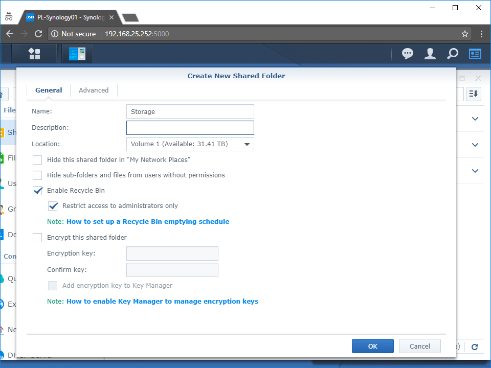 Synology Create Shared Drive