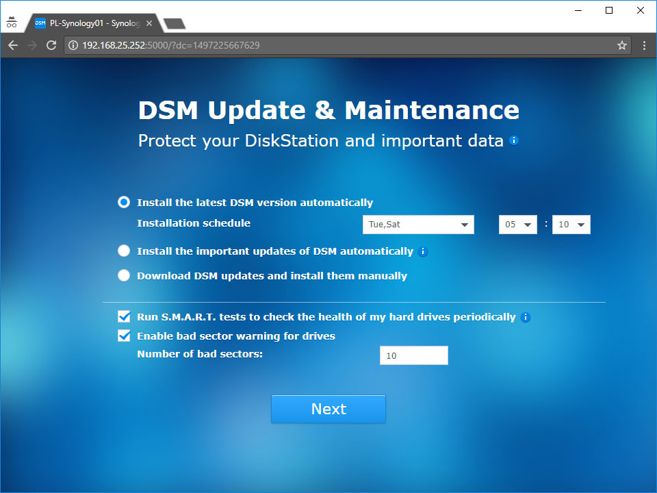 Synology DSM Update Schedule