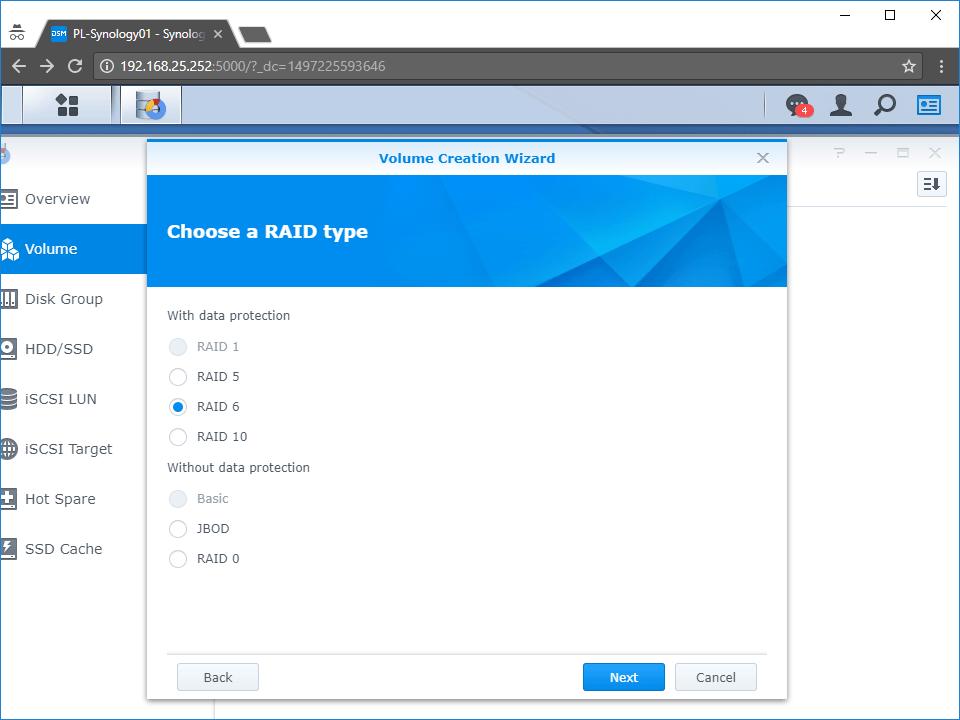 Synology RAID 6 Storage Manager