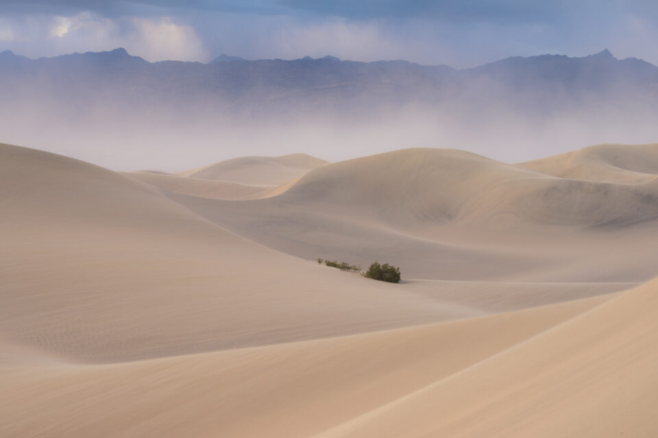 A photo of Death Valley taken with the Nikon D800e near sunset