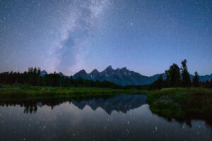 Tetons at night