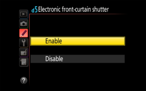 Electronic Front-Curtain Shutter Explained