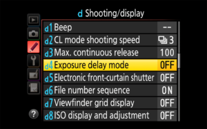 Nikon Exposure Delay Mode