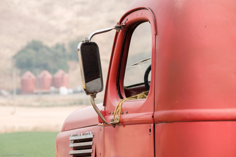 Red Silos and Truck