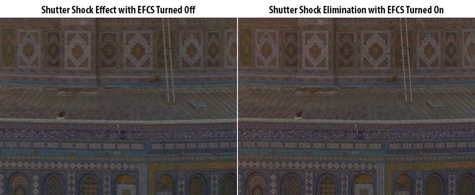 Shutter Shock with EFCS on and Off