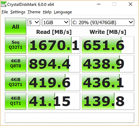 Surface Book 512GB Storage Performance