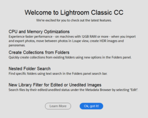 Lightroom CC 7.2 Update